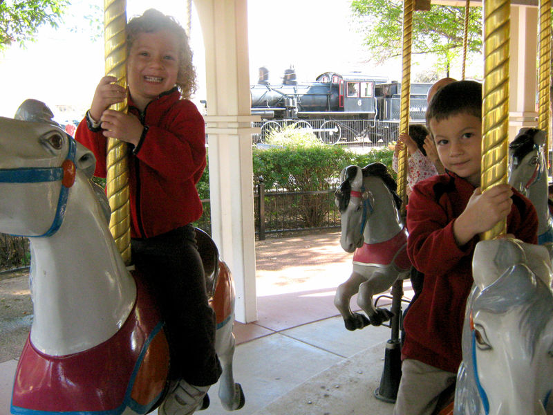 Train park horse 02.23.09